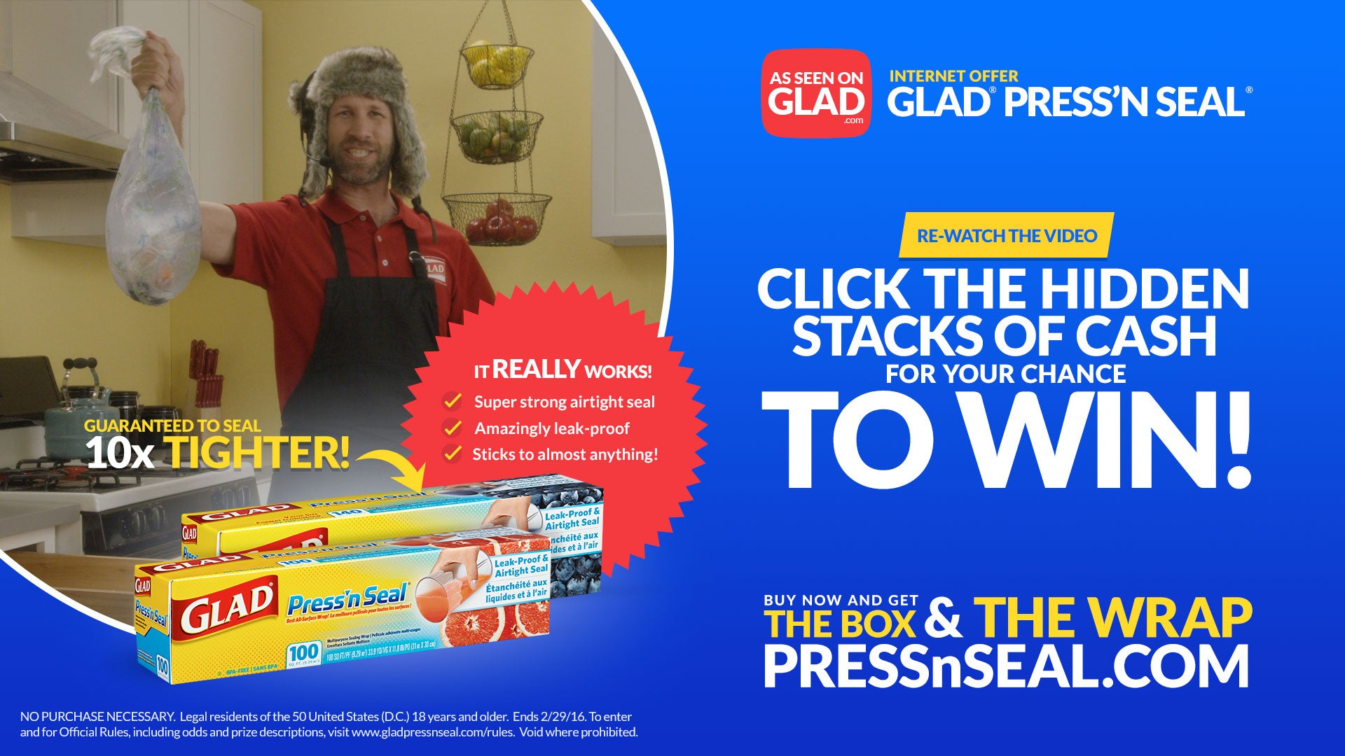 Re-watch the video. Click the hidden stacks of cash for your chance to win!