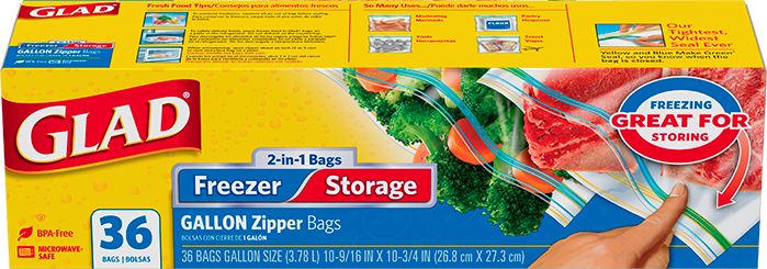 Zipper 2-in-1 Gallon