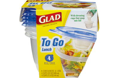 Glad<sup>®</sup> To Go Lunch