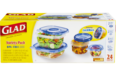 Stackable Food Storage Containers Variety Pack Glad 174