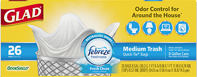 Medium Garbage OdorShield<sup>®</sup> Fresh Clean Scent