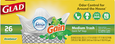 Bolsas de Basura Medianas con el Aroma Original de Gain™