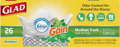 Medium Garbage OdorShield<sup>®</sup> Gain™ Scent