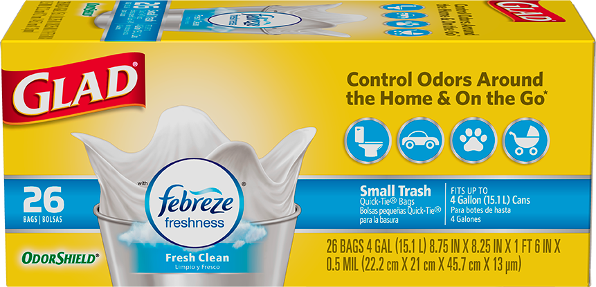 Small Garbage OdorShield® Fresh Clean Scent