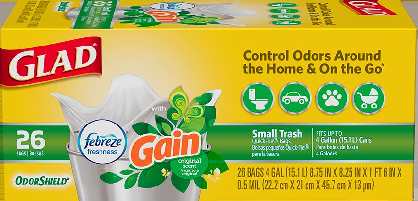Small Garbage OdorShield<sup>®</sup> Original Gain™ Scent