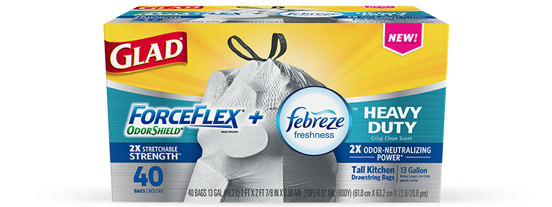 Kitchen ForceFlex<sup>®</sup> OdorShield<sup>®</sup> Heavy Duty Crisp Clean Scent