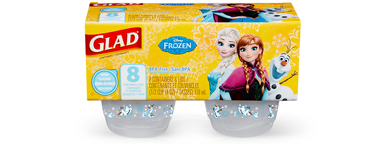 Disney Frozen Collection from Glad<sup>®</sup> Mini Round – 8 pieces