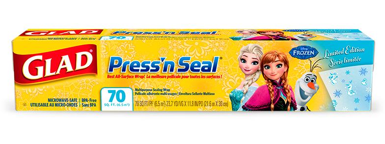 Disney Frozen Collection from Glad<sup>®</sup> Press'n Seal<sup>®</sup>