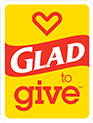 Make a difference with Glad to Give<sup>™</sup>