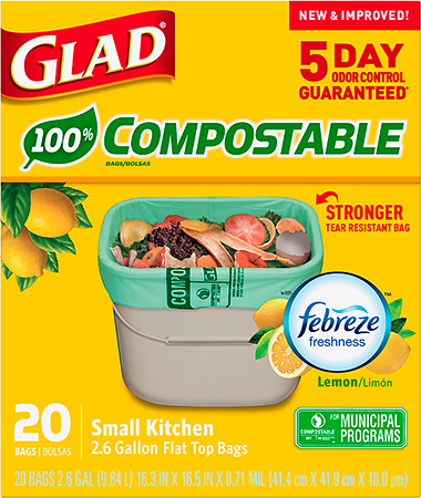Bolsas Altas de Cocina Compostables con Aroma a Limón