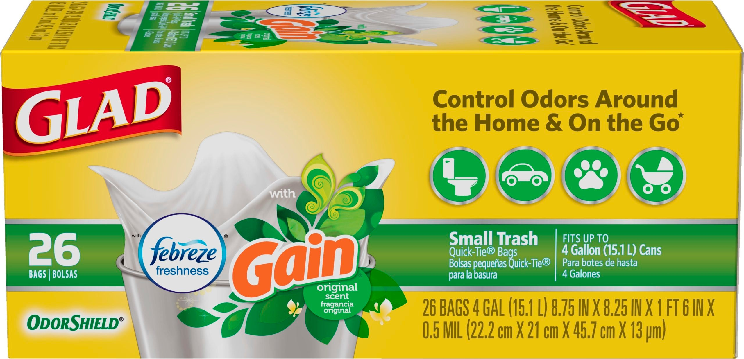 Small Garbage Scented Bags Original Gain Scent
