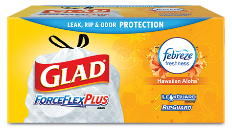 Tall Kitchen ForceFlex<sup>®</sup> Plus™ Drawstring Bags Hawaiian Aloha Scent