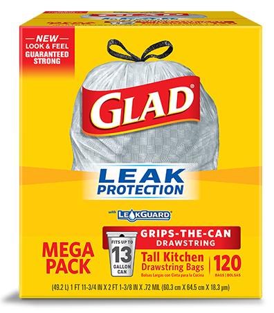 Tall Kitchen Trash Bags with Drawstrings | Glad®