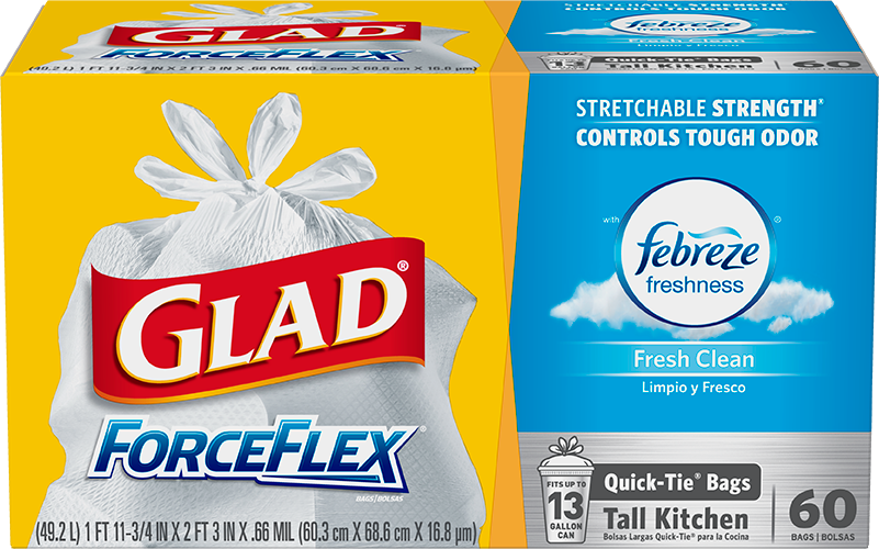 Kitchen ForceFlex<sup>®</sup> OdorShield<sup>®</sup> Fresh Clean Scent Quick-Tie<sup>®</sup>