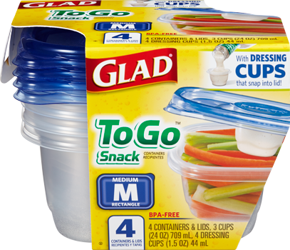 Glad<sup>®</sup> To Go Snack