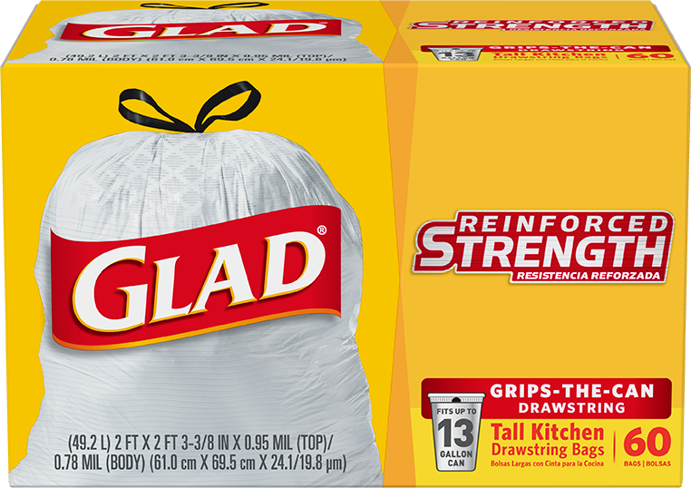 Tall Kitchen Trash Bags With Drawstrings Glad 174