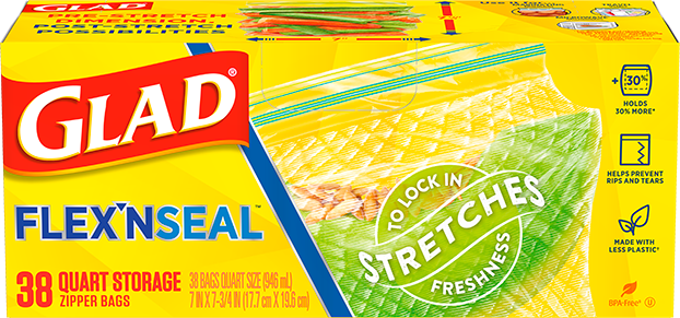 FLEX'N SEAL™ Food Storage Quart Bags