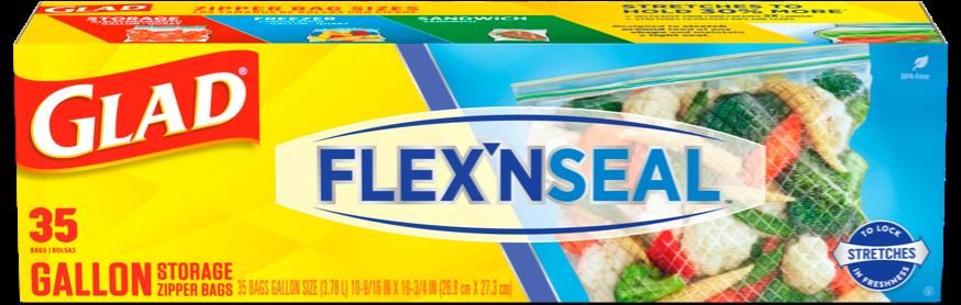 Flex'n Seal Food Storage Gallon Bags