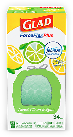 Scented Tall Kitchen ForceFlexPlus Bags Sweet Citron & Lime Scent
