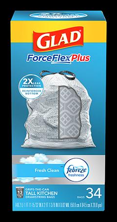 Kitchen ForceFlexPlus Bags Fresh Clean Scent