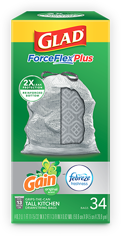Kitchen ForceFlexPlus Bags Gain Original Scent