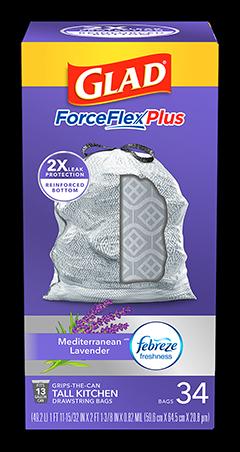 Kitchen ForceFlexPlus Bags Mediterranean Lavender Scent