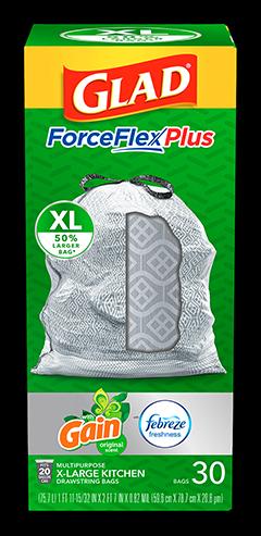Kitchen ForceFlexPlus XL Bags Gain Original Scent