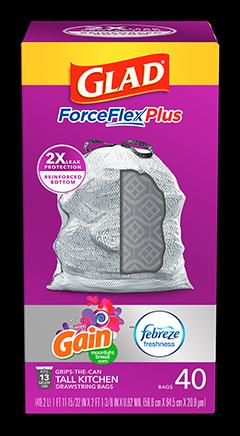 Kitchen ForceFlexPlus Bags Gain Moonlight Breeze Scent