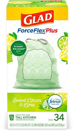 Sweet Citron & Lime Scented Kitchen ForceFlexPlus Bags