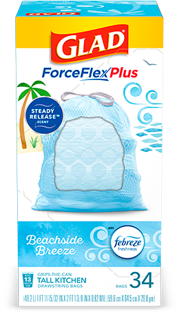 Scented Tall Kitchen ForceFlexPlus Bags Beachside Breeze Scent