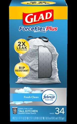 Bolsas ForceFlexPlus para Cocina con aroma Fresh Clean