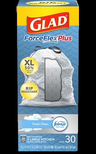 Bolsas ForceFlexPlus XL para Cocina con aroma Fresh Clean