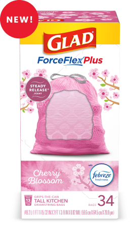 Scented Tall Kitchen ForceFlexPlus Bags Cherry Blossom Scent